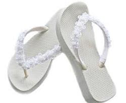 White Flip Flops - Colored Flip Flops